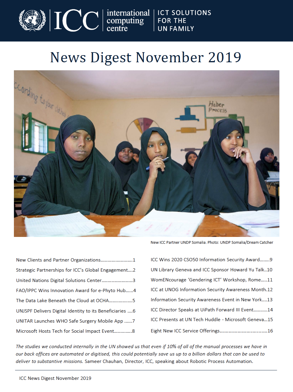 UNICC News Digest November 2019