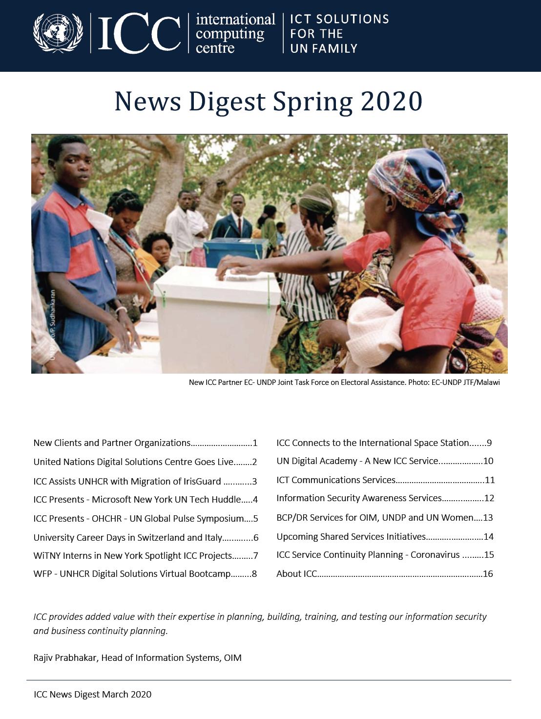 UNICC News Digest Spring 2020