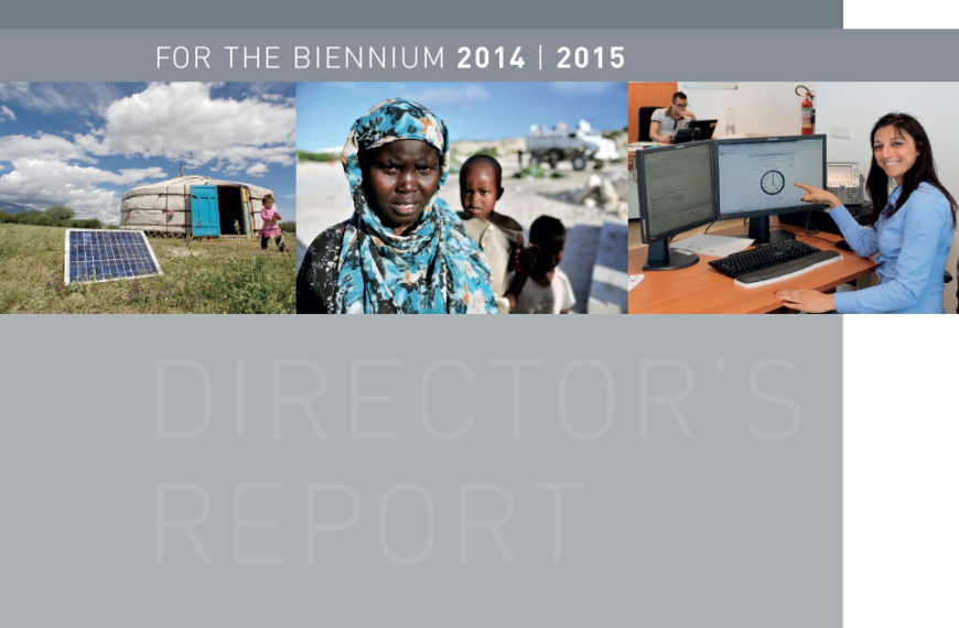 Director's Report and Financial Statements, Biennium 2014-2015