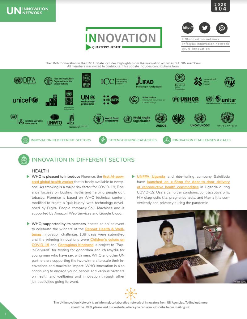 UNIN – Quarterly Innovation Update, Q3 2020