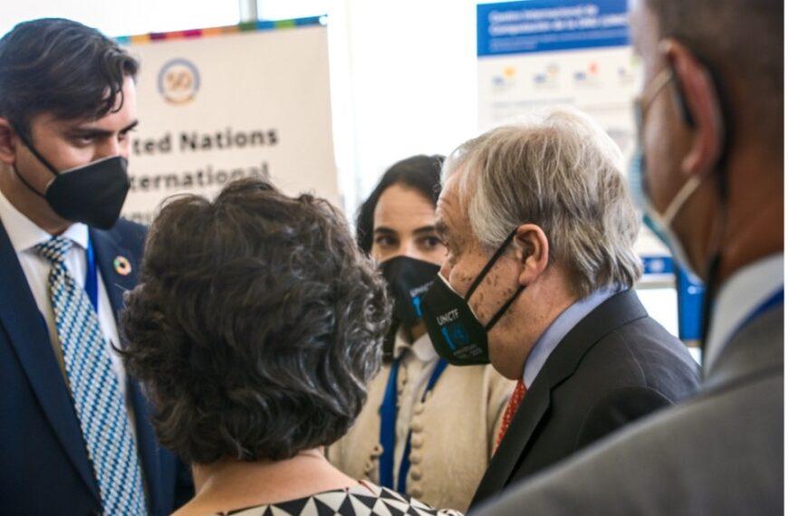 UN Secretary-General Visits the UN Support Base in Valencia