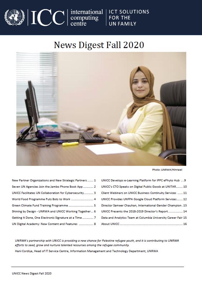 UNICC News Digest Fall 2020