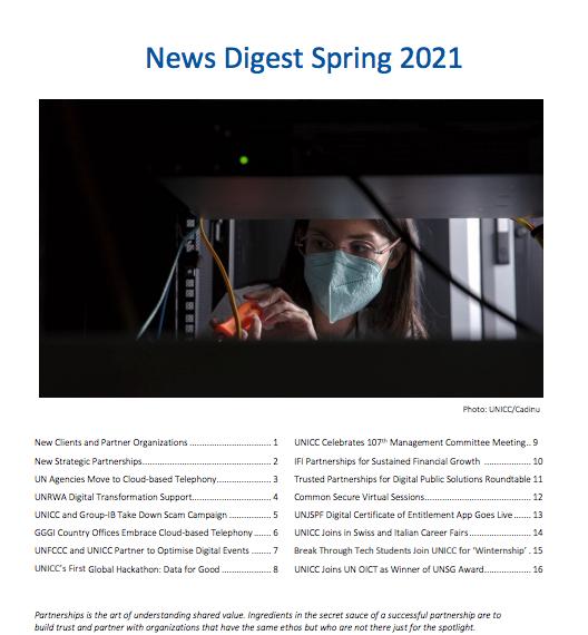 UNICC News Digest Spring 2021